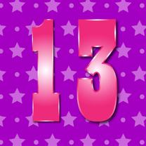 Verjaardagskaarten - 13 jaar