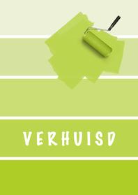 Verhuiskaarten - 14210 Verhuisd verfstaal lime
