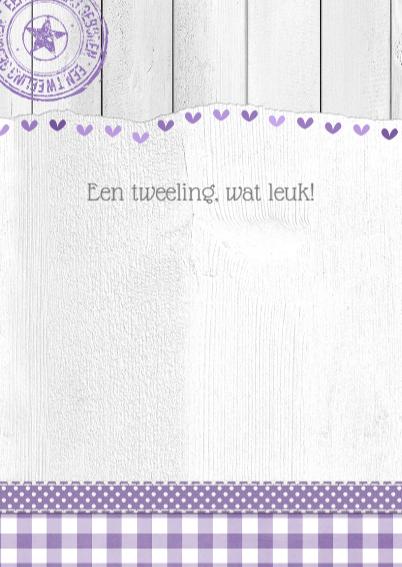 14239 Tweeling hartjes wit hout 3