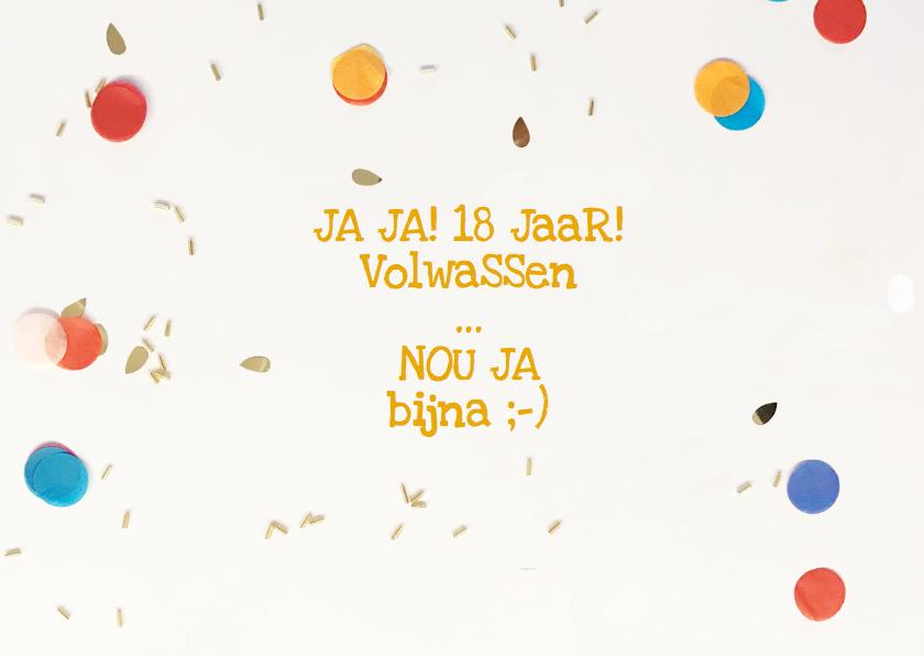 18 jaar felicitatie confetti 2