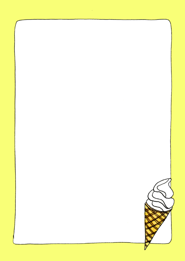 Quote I love you more than ice cream ijsje illustratie - SD 3