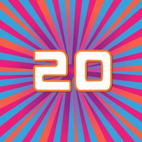 Verjaardagskaarten - 20 jaar lineart
