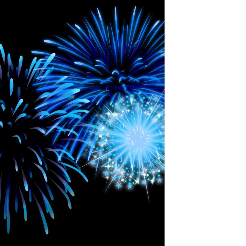 2018 nieuwjaar blauw vuurwerk 2