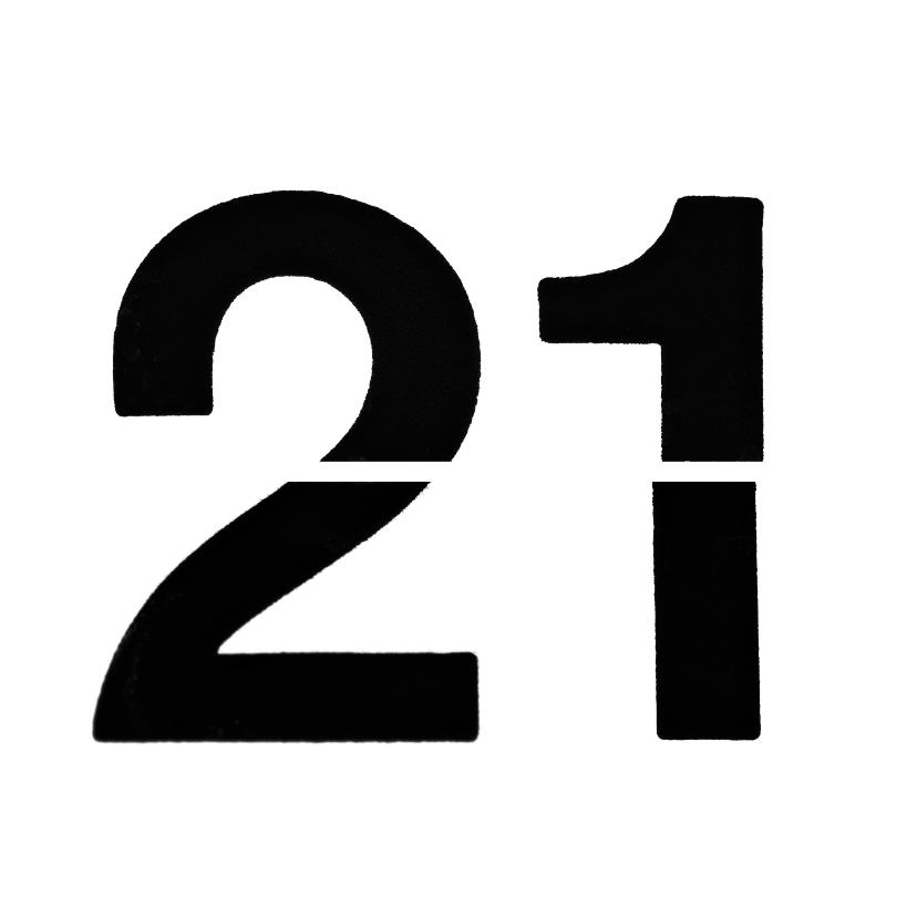 21 van omklapcijfers 2