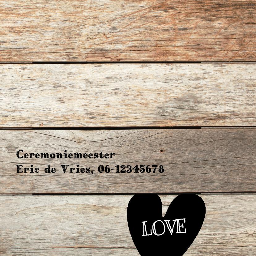 25 jaar getrouwd uitnodiging - hout planken 2