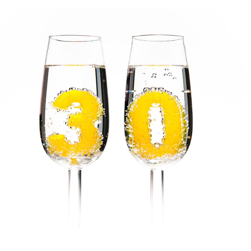 30 in champagneglazen 2