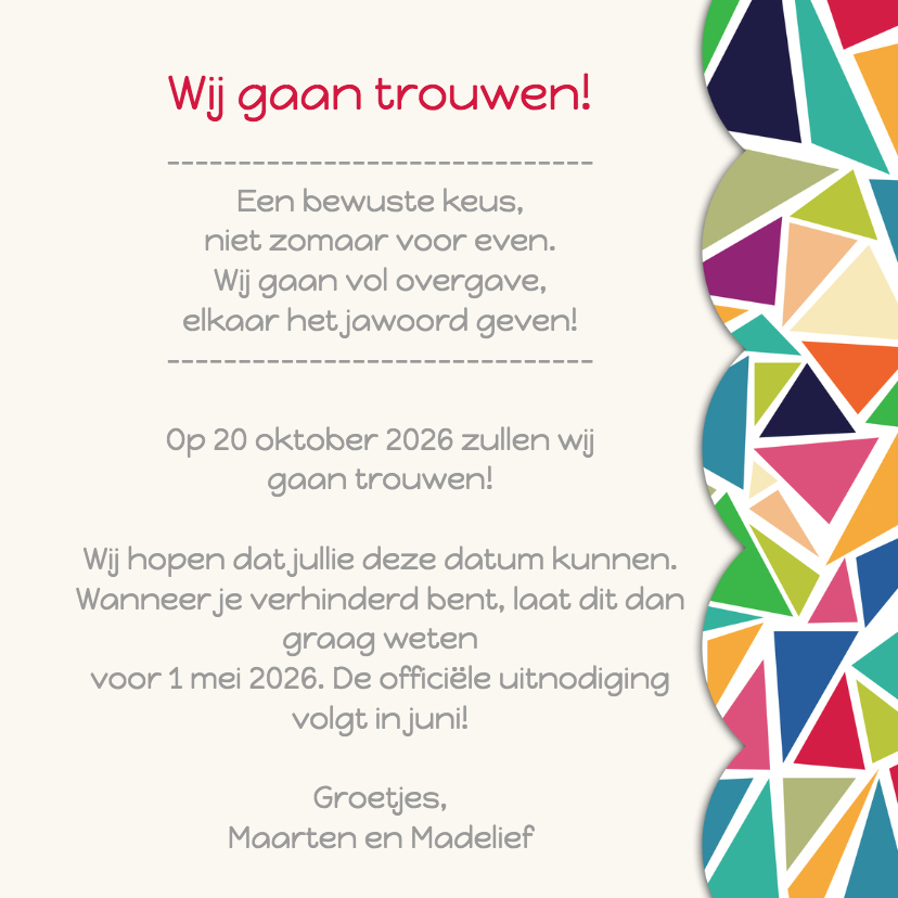 3hoek save the date - DH 3