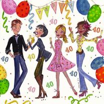 feestje 40 jaar 40 jaar Feest by Cartita Design   Uitnodigingen | Kaartje2go feestje 40 jaar
