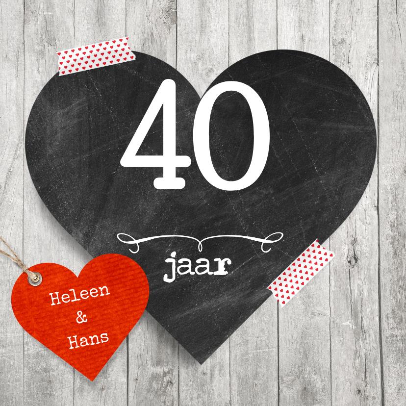 jubileumkaarten 40 jaar 40 jaar hart jublieum   Jubileumkaarten   Kaartje2go jubileumkaarten 40 jaar