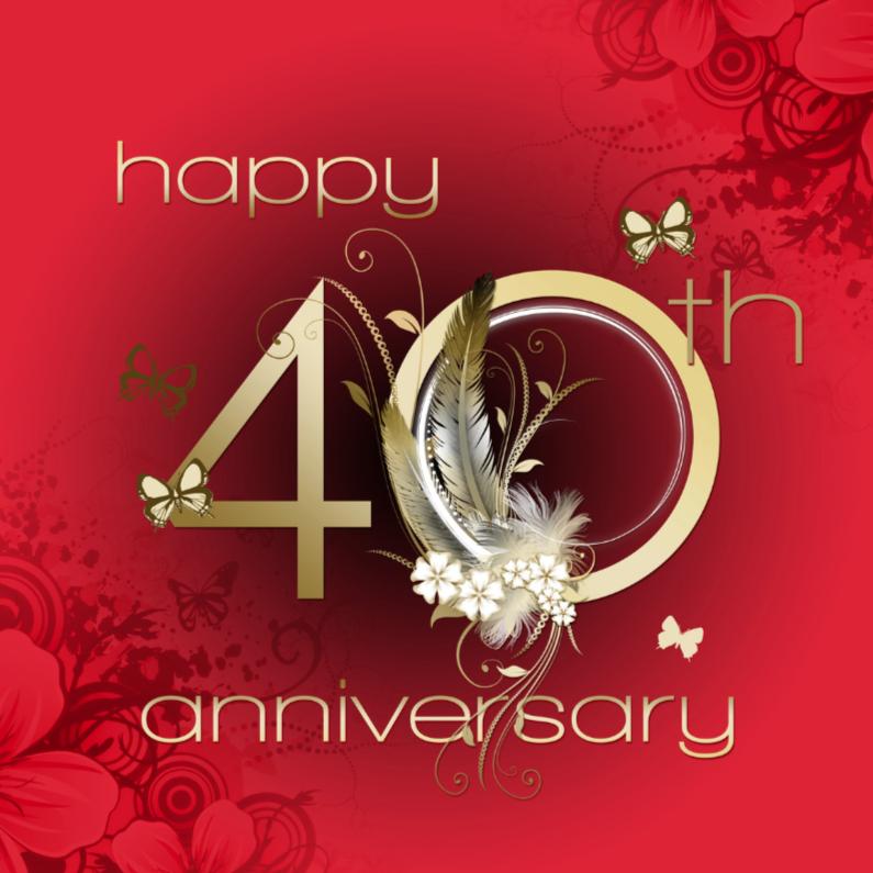 wat is 40 jaar huwelijk 40 jaar huwelijk   Felicitatiekaarten | Kaartje2go wat is 40 jaar huwelijk