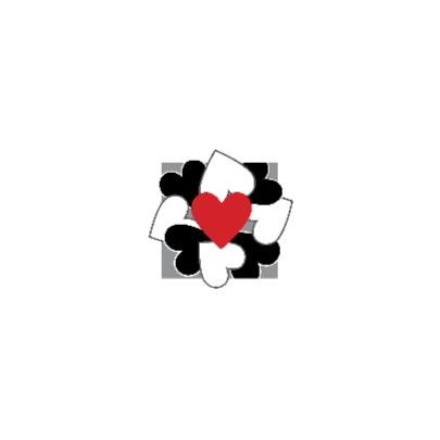 4k Hartjesserie rood-zwart-wit 2van6 2