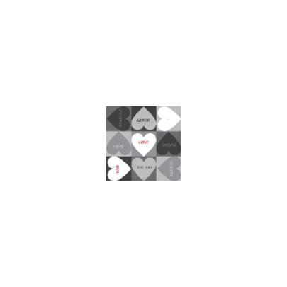 4k Hartjesserie rood-zwart-wit 3van6 2
