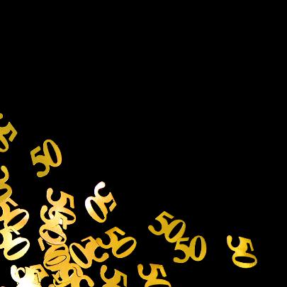 50 jaar confetti gouden jubileum 2