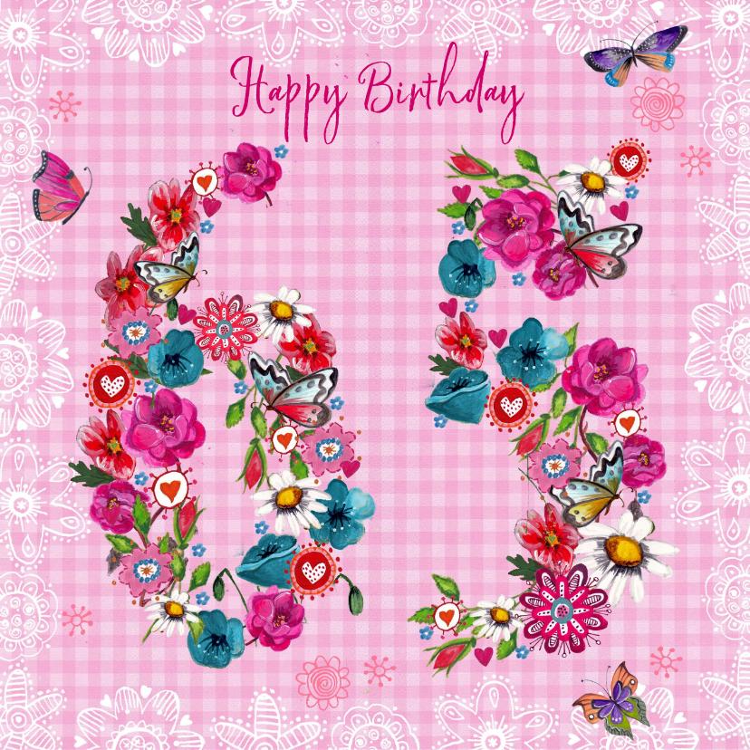 verjaardagskaart 65 jaar 65 jaar Verjaardag Bloemen Vrolijk | Kaartje2go verjaardagskaart 65 jaar