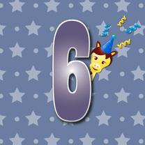 Verjaardagskaarten - 6jaar