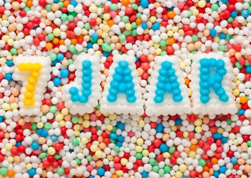7 jaar van suikerletters verjaardagskaarten kaartje2go for Poppenhuis kind 2 jaar