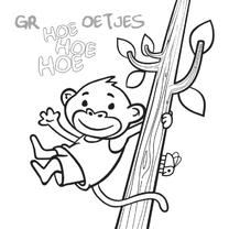 aapje in boom