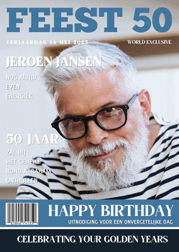 abraham 50 jaar uitnodiging Abraham Uitnodiging 50 jaar Tijdschrift | Kaartje2go abraham 50 jaar uitnodiging