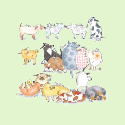 Allemaal honden groen 2
