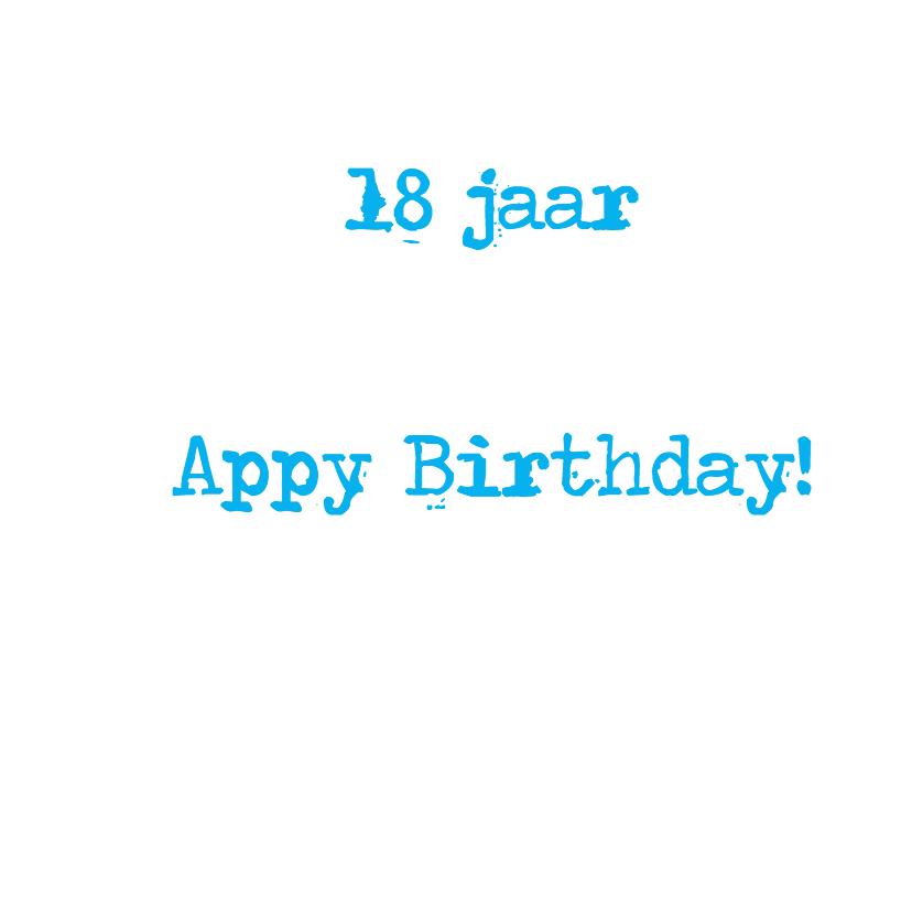 App icoon met  leeftijd 18 3