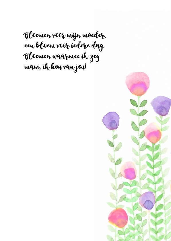 Aquarel bloemetjes voor moederdag 3
