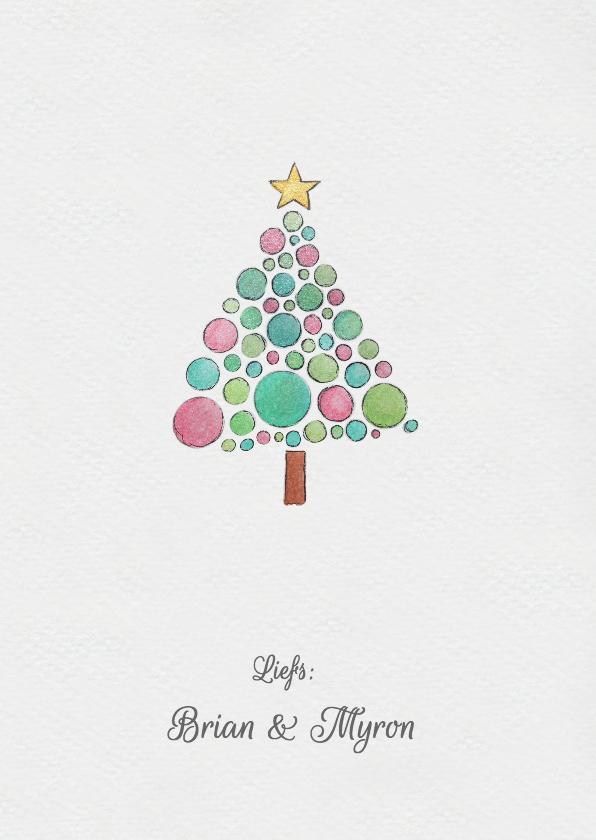 Aquarel kerst kaart 3