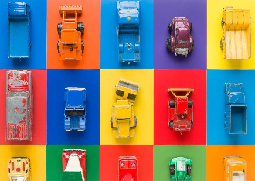 Auto's met feestelijke kleuren 2