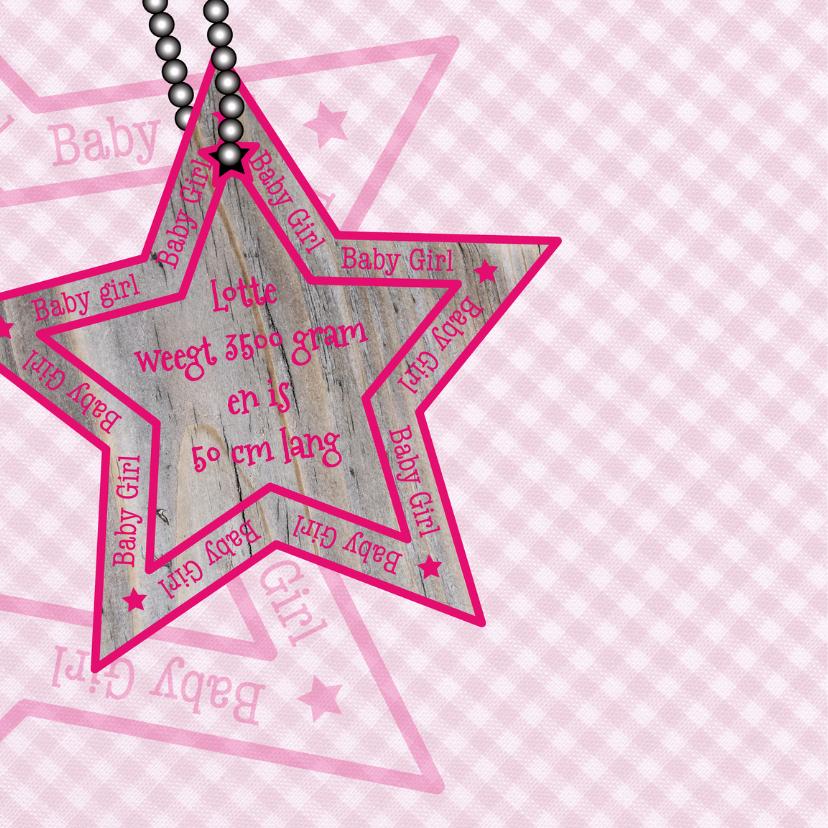 Baby Girl ruit ster roze 2