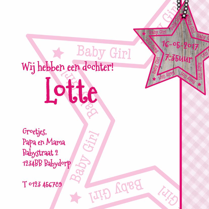 Baby Girl ruit ster roze 3