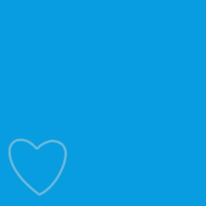 Baby hart blauw wit vk 2