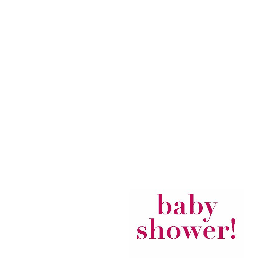baby shower, roze kaart 3