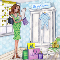 Uitnodigingen - Baby shower shop illustratie