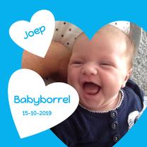 Uitnodigingen - babyborrel met hart blauw