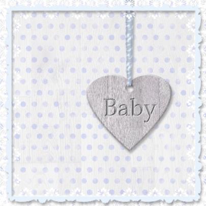 Babyhart blauw met sterren 2