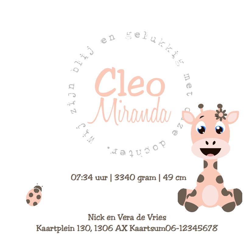 Babykaartje Giraf Meisje - LOVZ 3