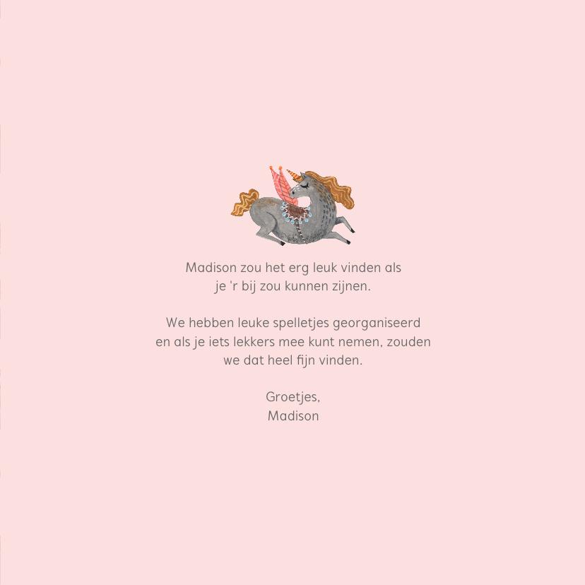 Babyshower unicorn patroon uitnodiging 3