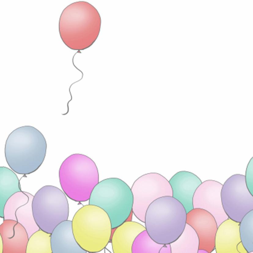 Ballonnen gefeliciteerd vierkant 3