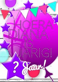 Verjaardagskaarten - Ballonnen plaats zelf tekst b
