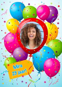 Verjaardagskaarten - Ballonnenkaart Ronde foto