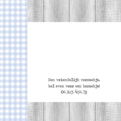 Bar creatief - Robin poststempel ruitjes 2