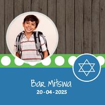 Uitnodigingen - Bar Mitswa uitnodiging - DH