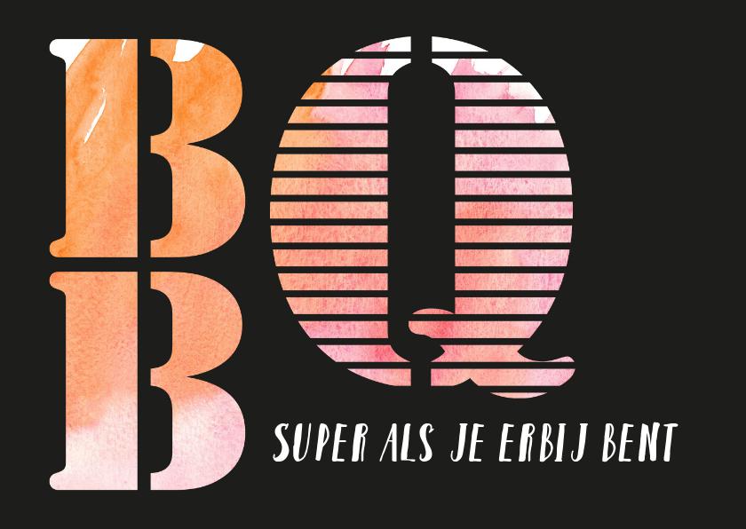Populair BBQ - super als je erbij bent - Uitnodigingen - Kaartje2go ZF85