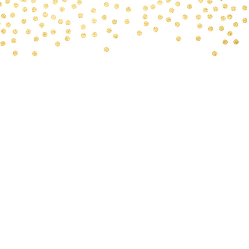 Bedankkaart gouden stippen 2