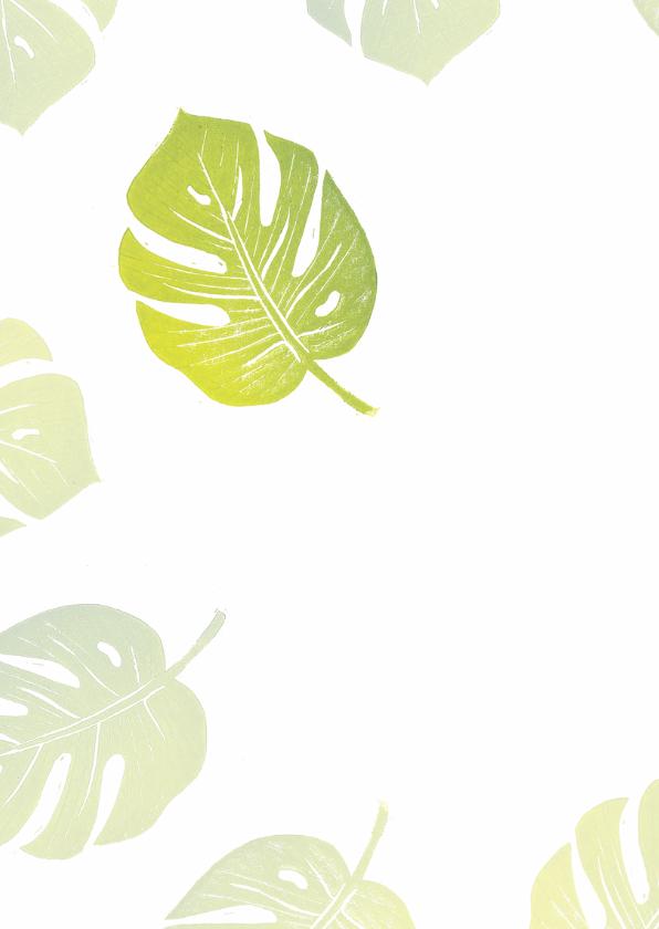 Bedankkaart groene bladeren 2