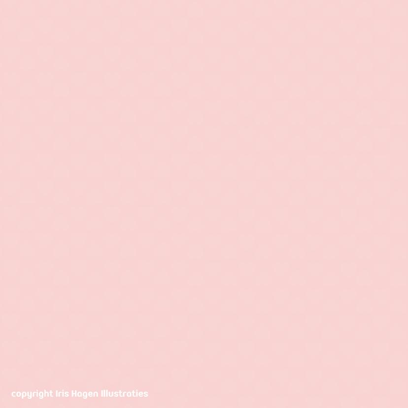 Bedankkaart muis bloemen - IH 2