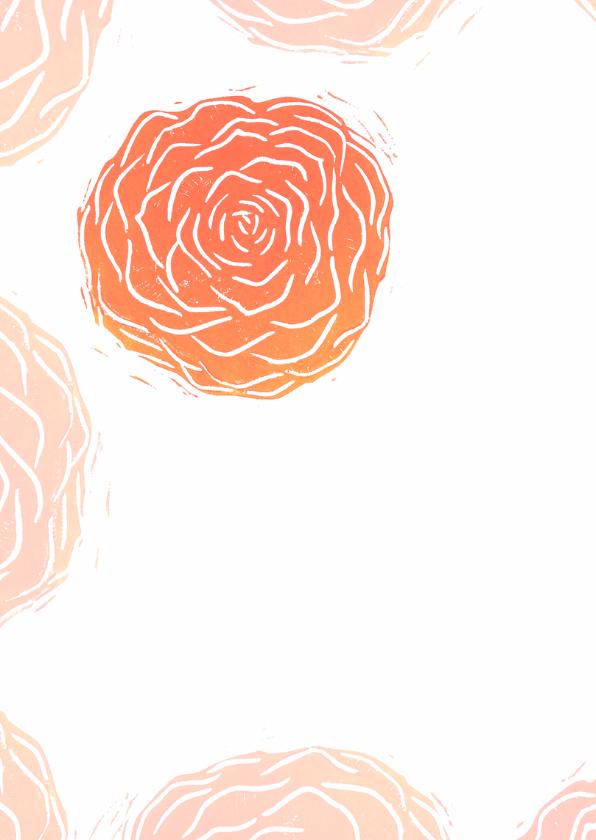 Bedankkaart rode rozen stempels 2