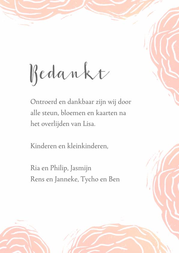 Bedankkaart rode rozen stempels 3