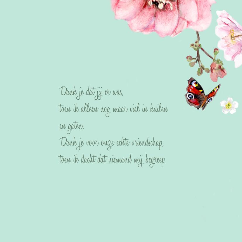 Bedankkaart Vlindertuin 3