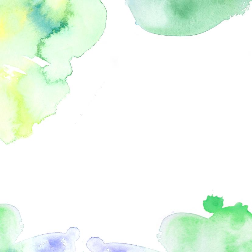 Bedankkaartje aquarel letters 2