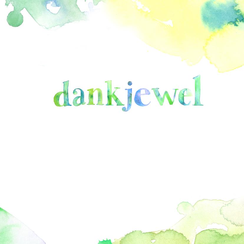 Bedankkaartje aquarel letters 3